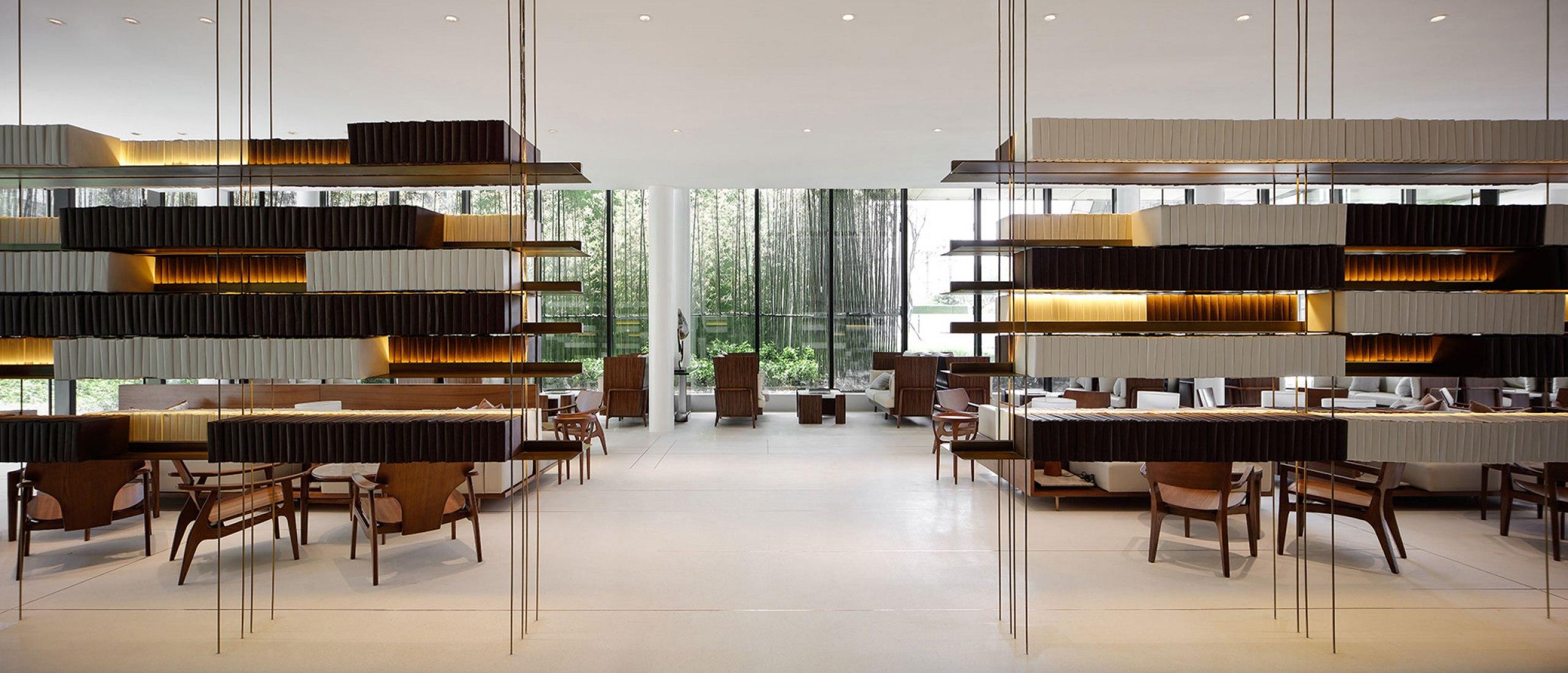 Sala de reunión. SINO-OCEAN. Oriental Worldview Sales Center. Fotografía por Yuchen Chao. Copyright por Waterfrom Design
