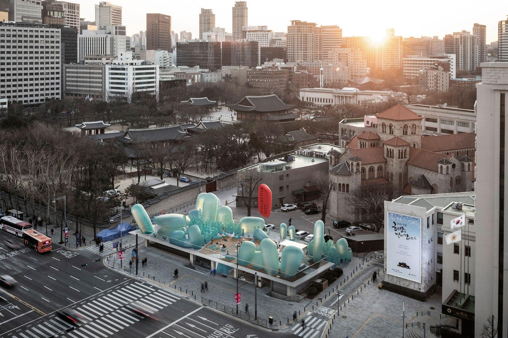 Overview rendering. New Korean Garden by SKNYPL