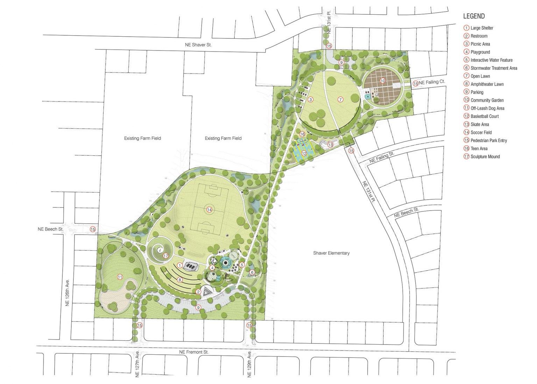 Plano de planta. Proyecto Pabellón del Parque Luuwit por Skylab Architecture.