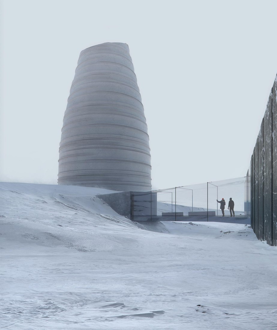 The Arc, a Visitor Center for Arctic Preservation Storage by Snøhetta. Photograph by Snøhetta & Plomp