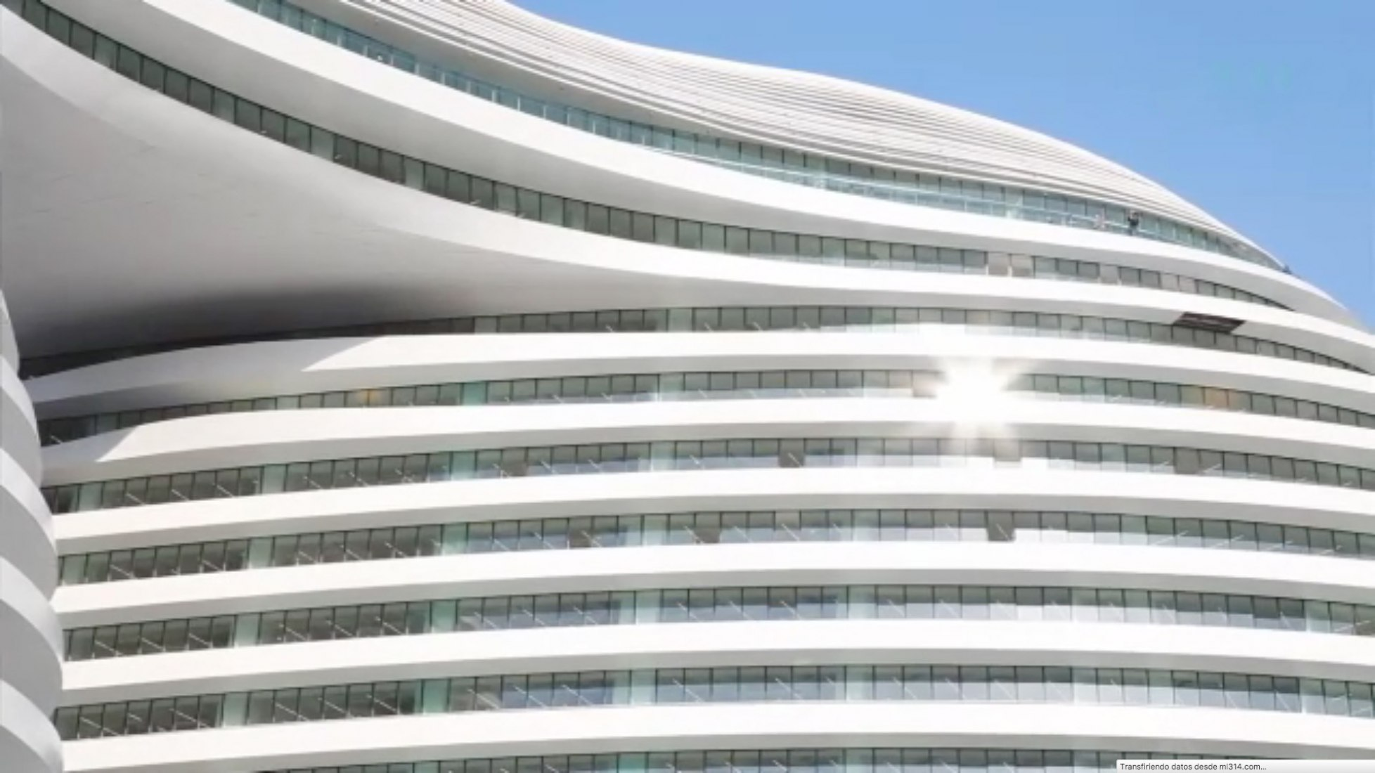 Captura de pantalla. Zaha Hadid Galaxy SOHO, Pekín. Por Crane.tv
