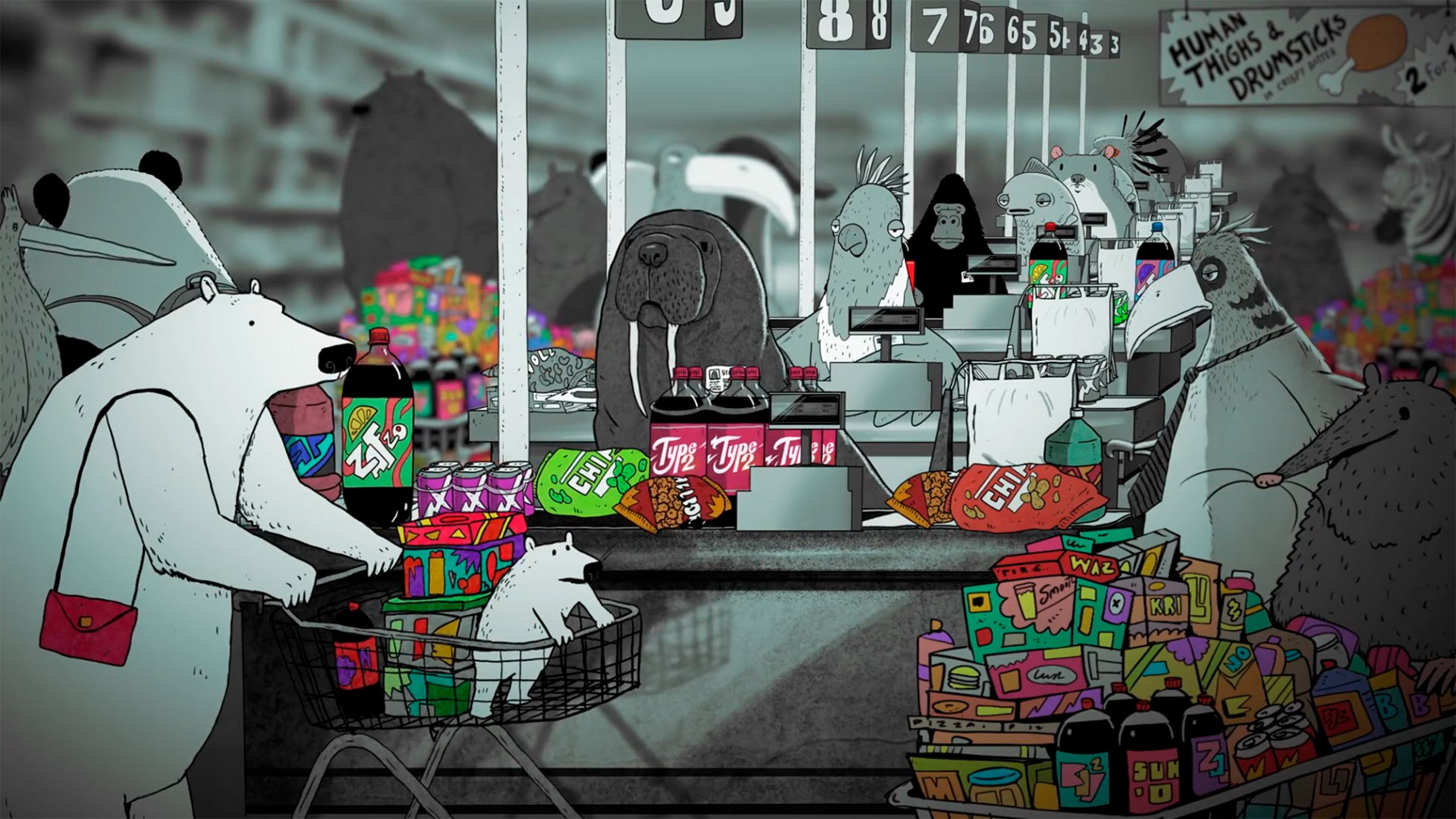The Turning Point by Steve Cutts