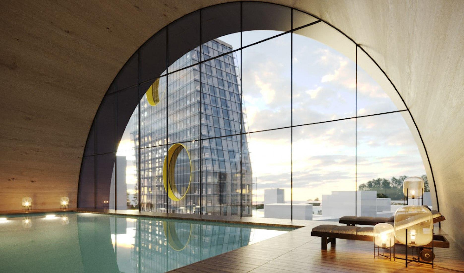 Visualización vista desde el interior. Steven Holl Architects gana el concurso internacional de diseño de nuevos barrios residenciales en Moscú. Imágenes cortesía de Steven Holl Architects