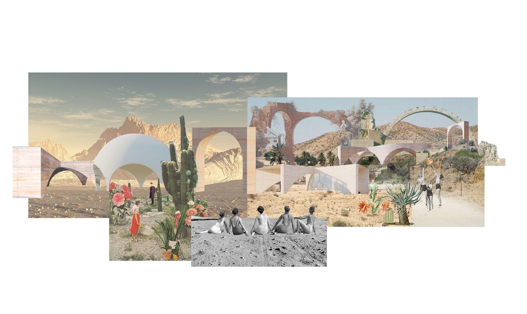 Tatiana Bilbao Estudio, Staterra, Los Cabos, Baja California, México. Se espera que se termine en 2020. Imagen cortesía del Museo de Arte Moderno de Louisiana.