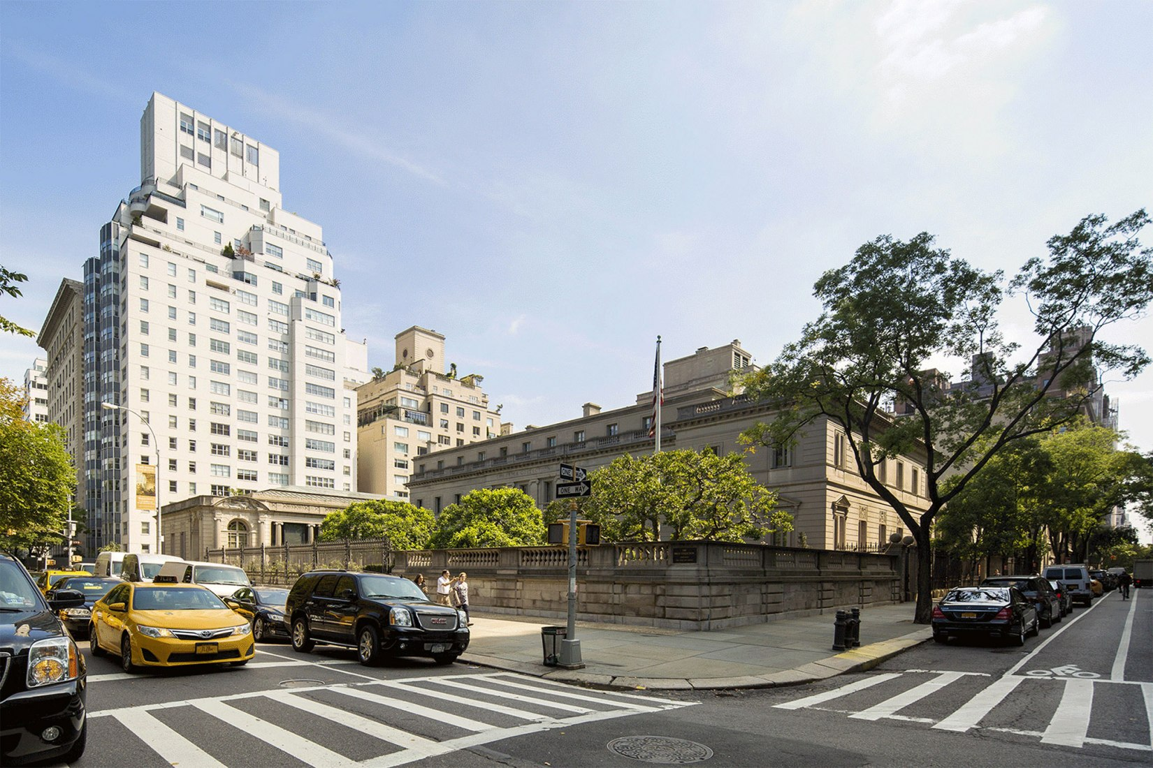 Vista actual de la Frick Collection de la 5ª Avenida y la 70ª Calle. Cortesía de Selldorf Architects