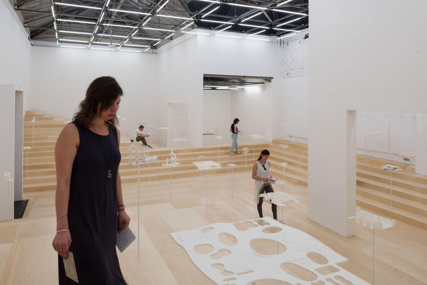 Interior view. The School of Athens, Neiheiser Argyros. Greece Pavilion for the Biennale Architettura di Venezia 2018. Photograph by Ugo Carmeni