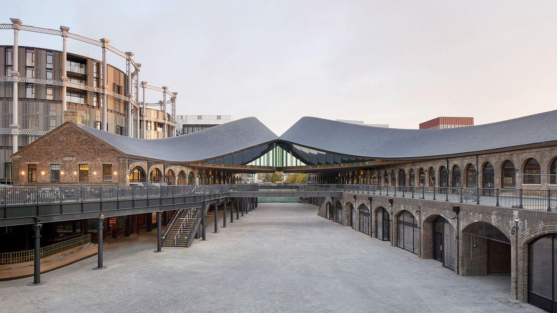 Coal Drops Yard in King's Cross, by Heatherwick Studio. Photograph by Hufton+Crow