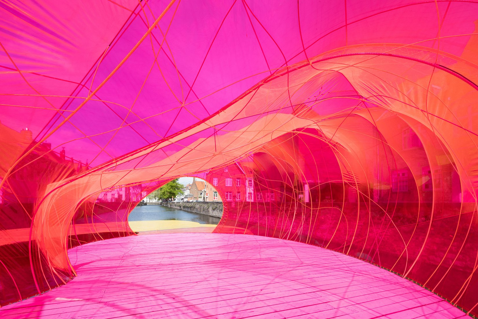 Pavilion at the Bruges Triennial by Selgascano. Photograph by Iwan Baan