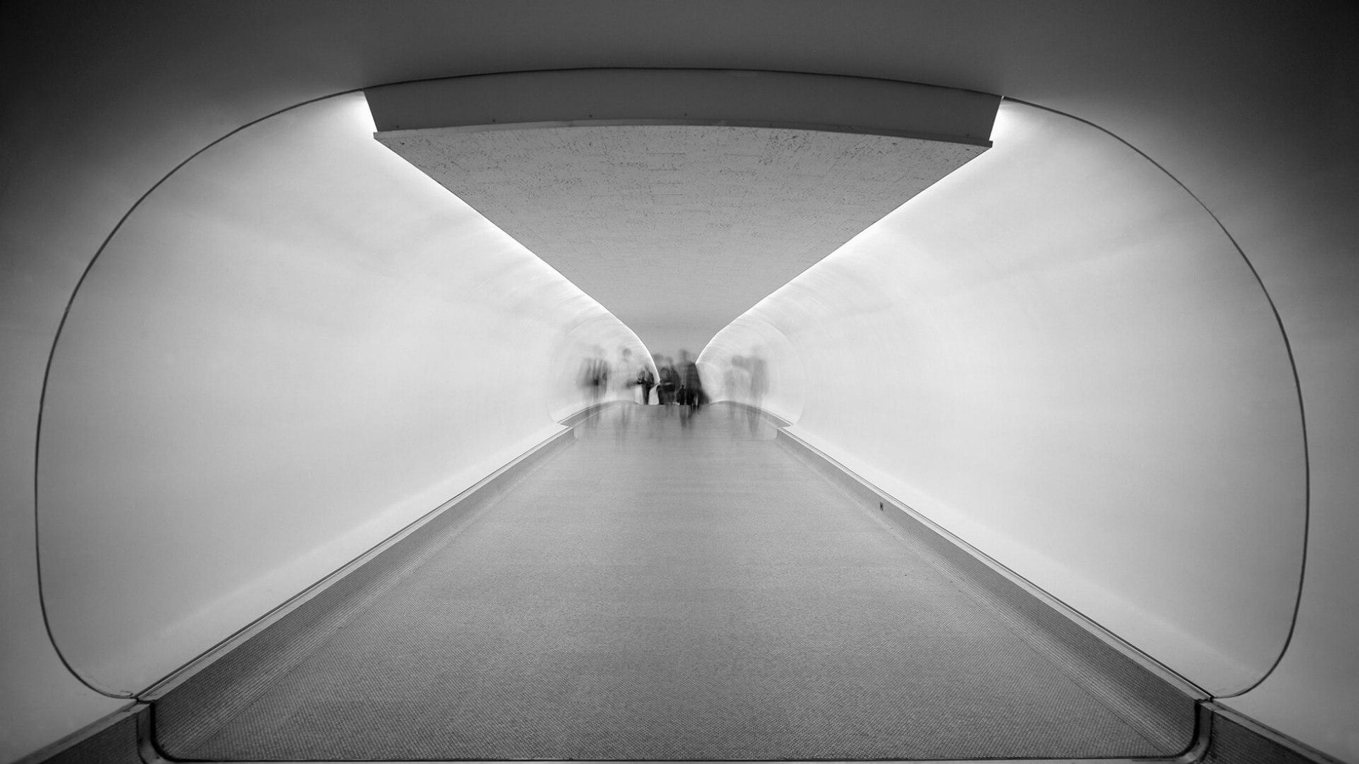 Terminal de la TWA por Saarinen. Fotografía por Ezra Stoller, imagen cortesía de TWA
