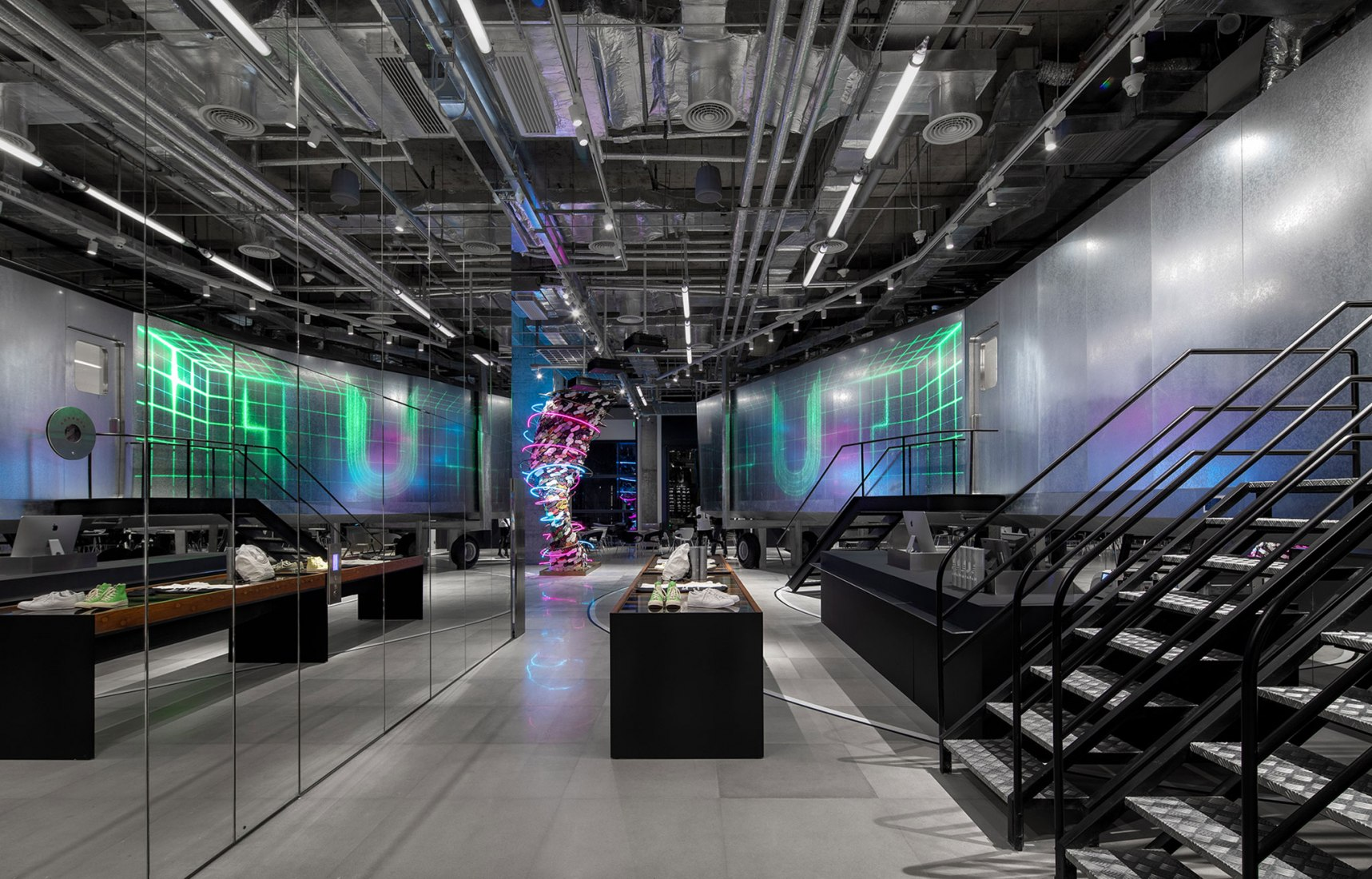 UPAR Flagship Store Lighting Design by GD-Lighting Design. Photograph by Bruce Zheng.