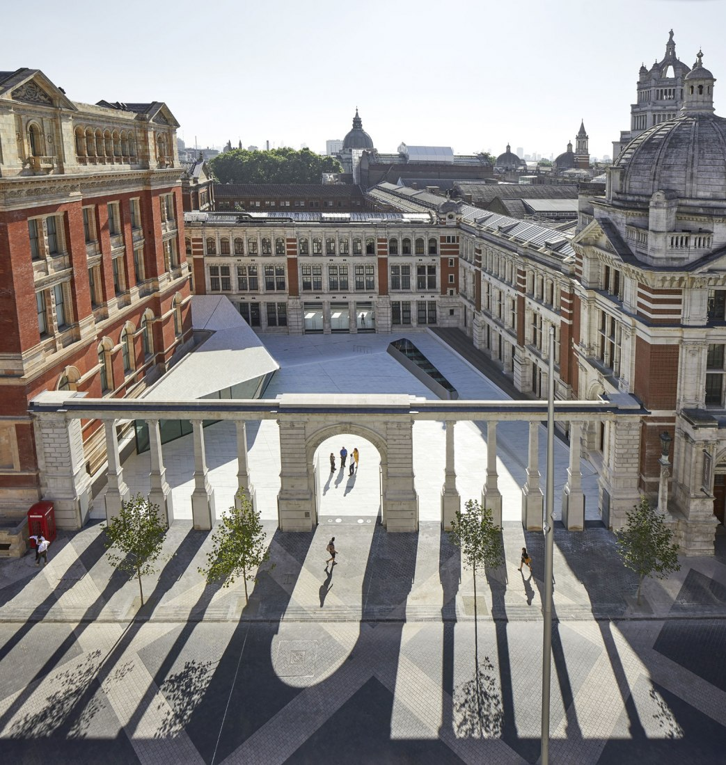 Aerial view. A new entry for the Victoria & Albert Museum by AL_A. Photograph © Hufton Crow