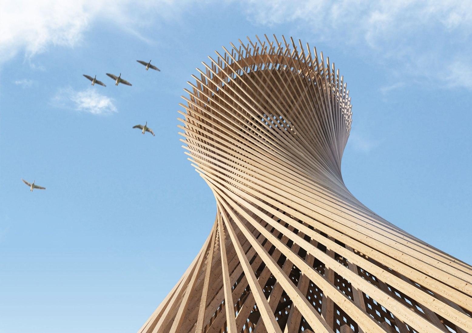 Visualización.Torre de Observación Varberg por White Arkitekter. Cortesía de White Arkitekter.