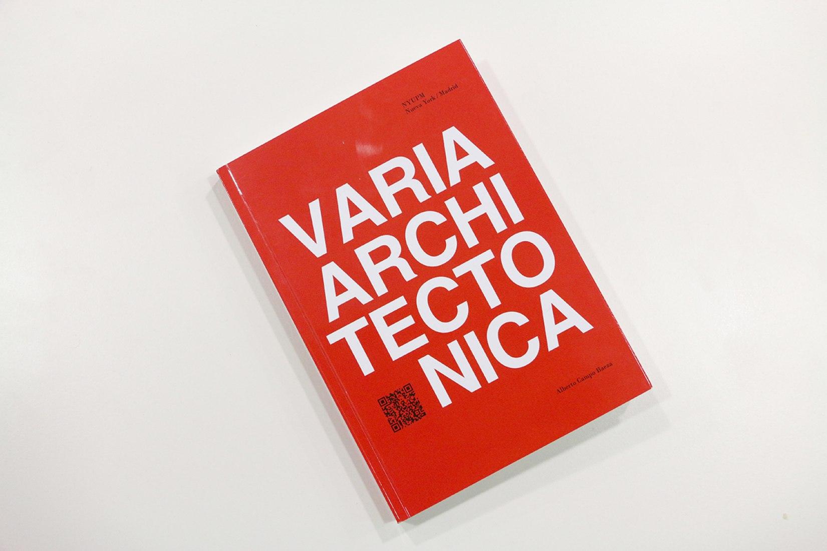 Cubierta del libro Varia Architectonica por Alberto Campo Baeza.