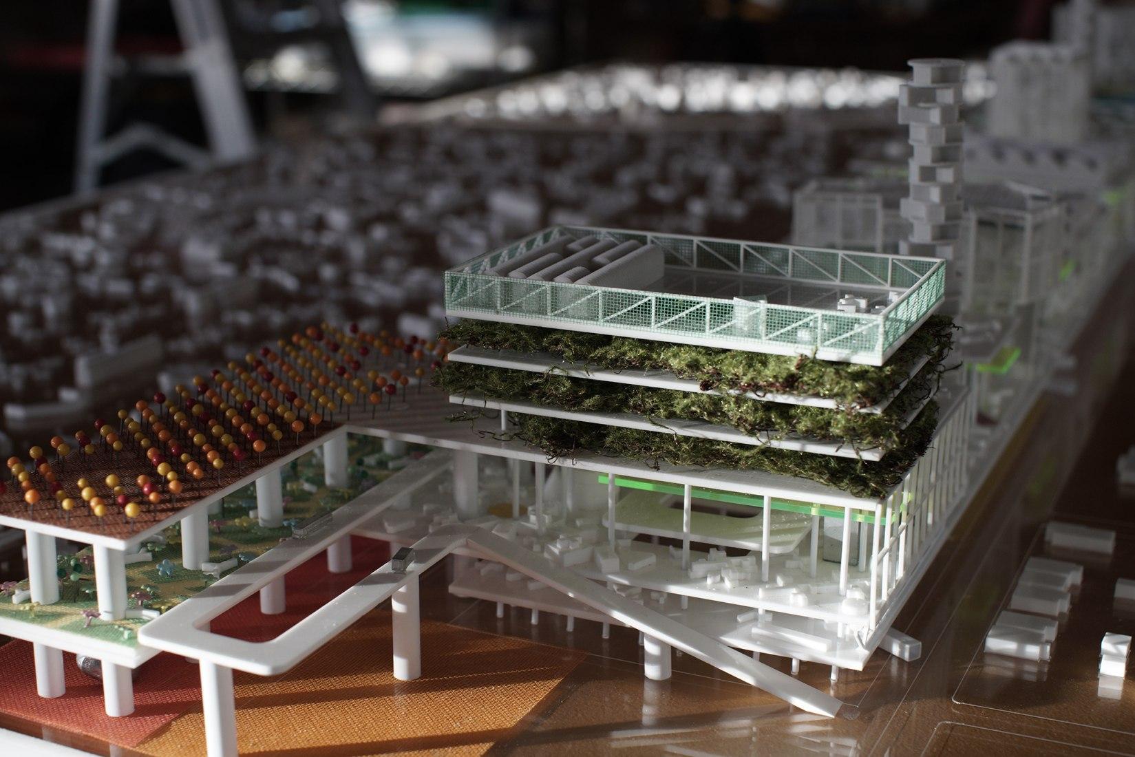 Maqueta. Detroit Rock City: un jardín vertical botánico por Stan Allen Architect. Fotografía cortesía de Stan Allen.