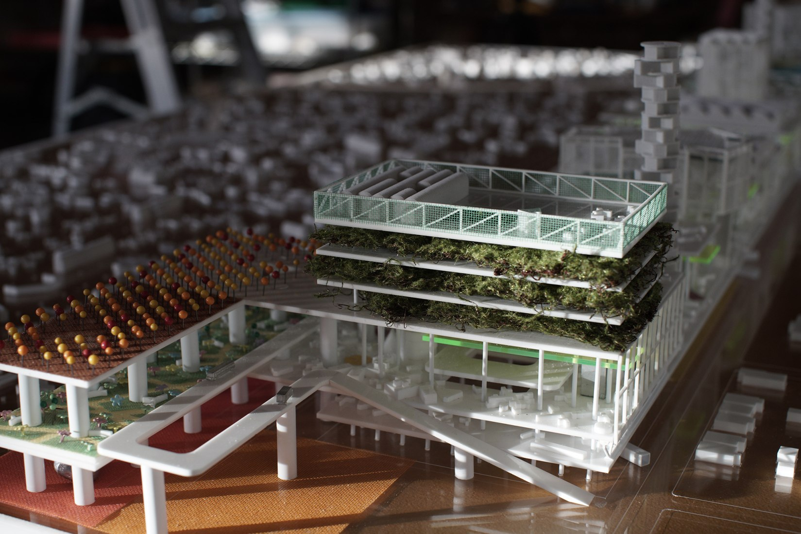 Model. Detroit Rock City: a vertical botanic garden by Stan Allen Architect. Photograph courtesy of Stan Allen.