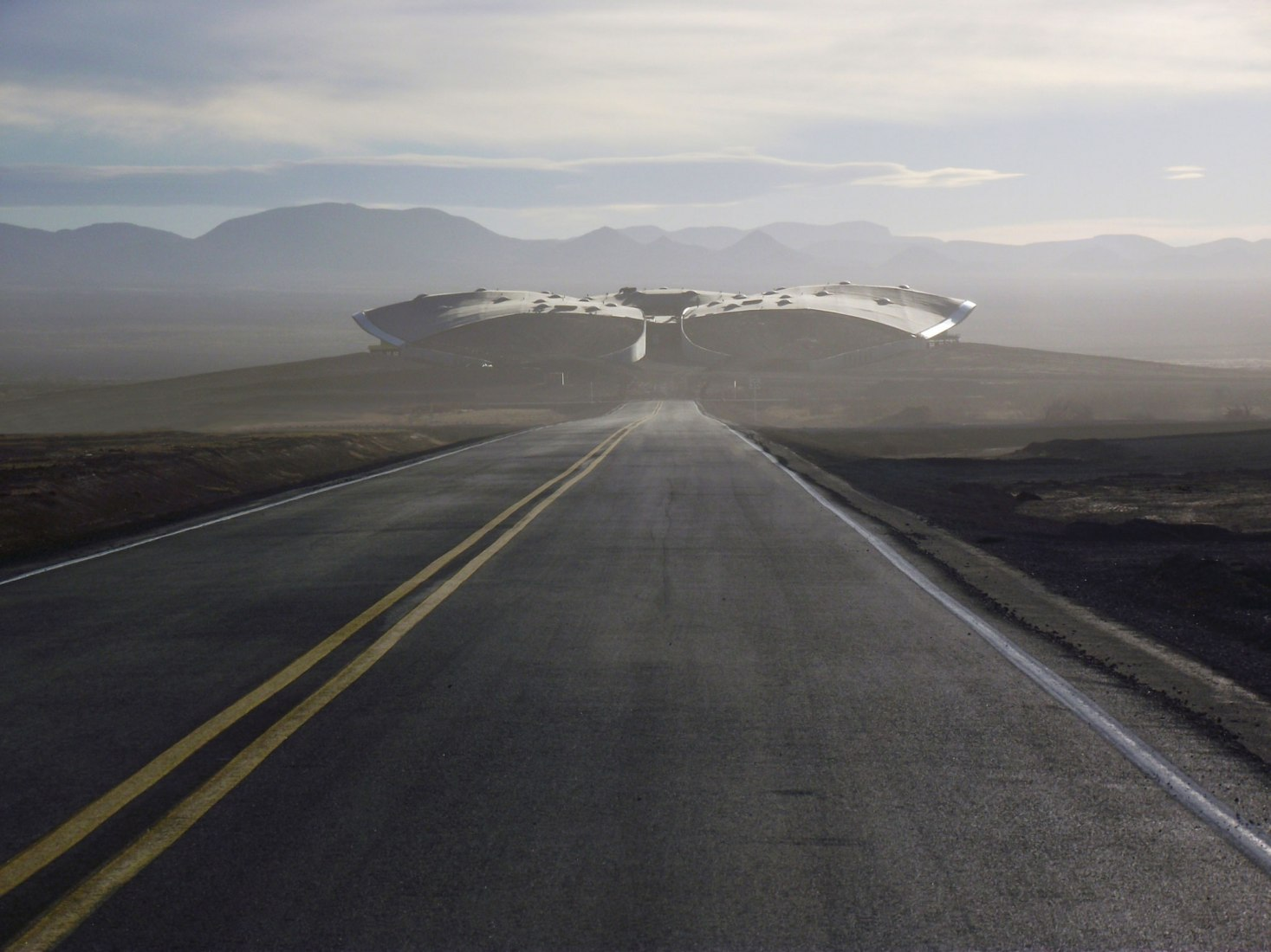 Road leading up to Spaceport America, Virgin Galactic's Gateway to Space. Image courtesy of VirginGalactic.