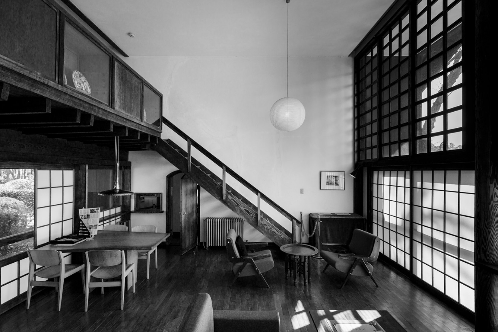 Yesterday Houses. Kunio Maekawa. Sample of the exhibition 'Japan, Archipelado of the House'. Photograph © Jeremie Souteyrat. Image courtesy of Looiersgracht 60.