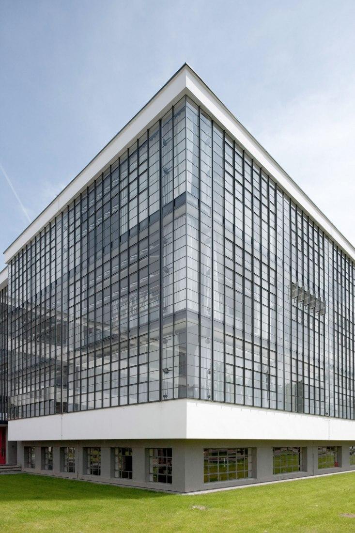 Edificio de la Bauhaus Dessau, Walter Gropius 1925-1926, vista desde el norte.