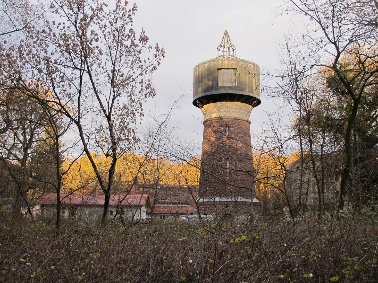 Water tower rehabilitation in Potsdam by Wirth Alonso Architekten. Photograph by Wirth Alonso Architekten.