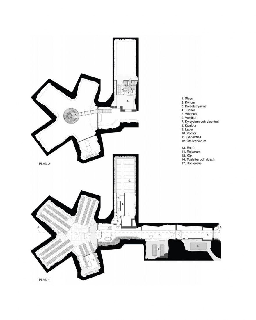 Ground floor plan.  Architecture of WikiLeaks.