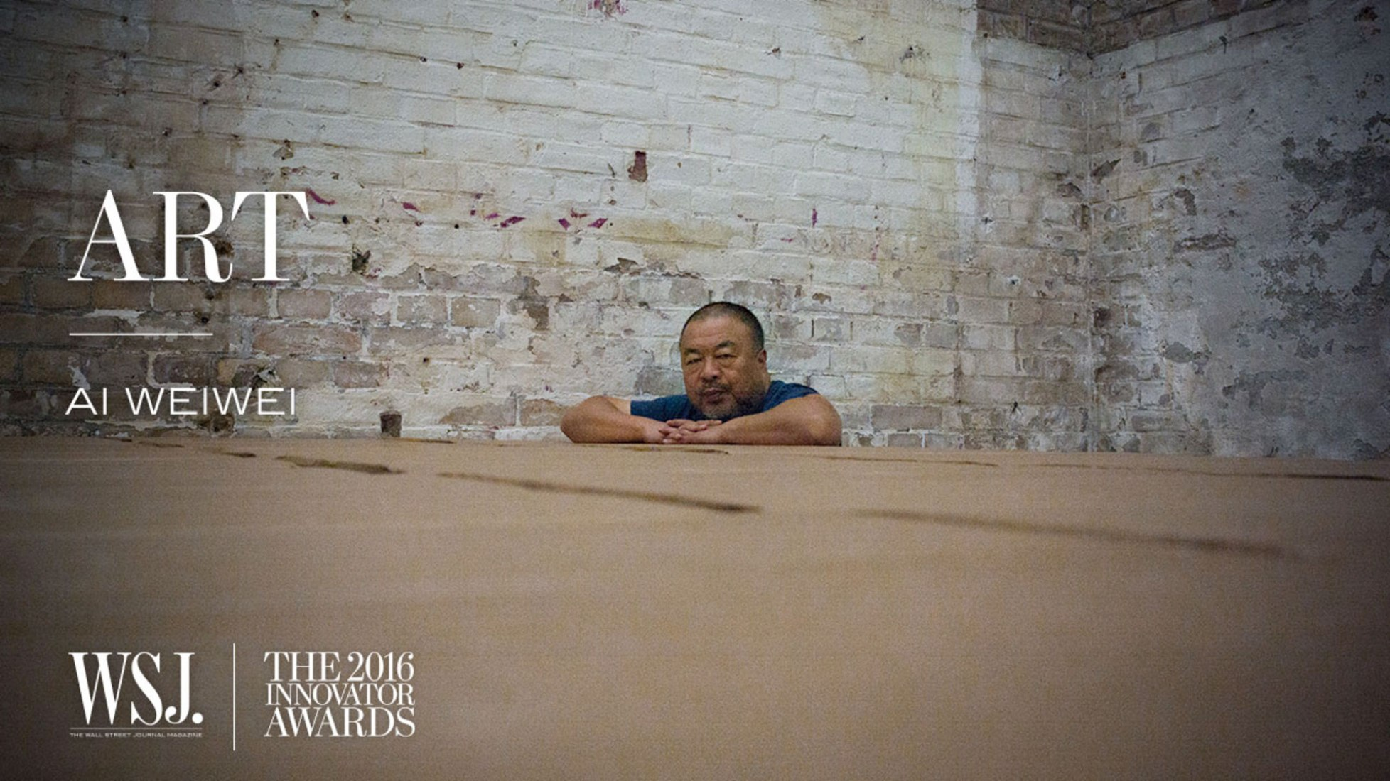 Ai Weiwei for the WSJ.