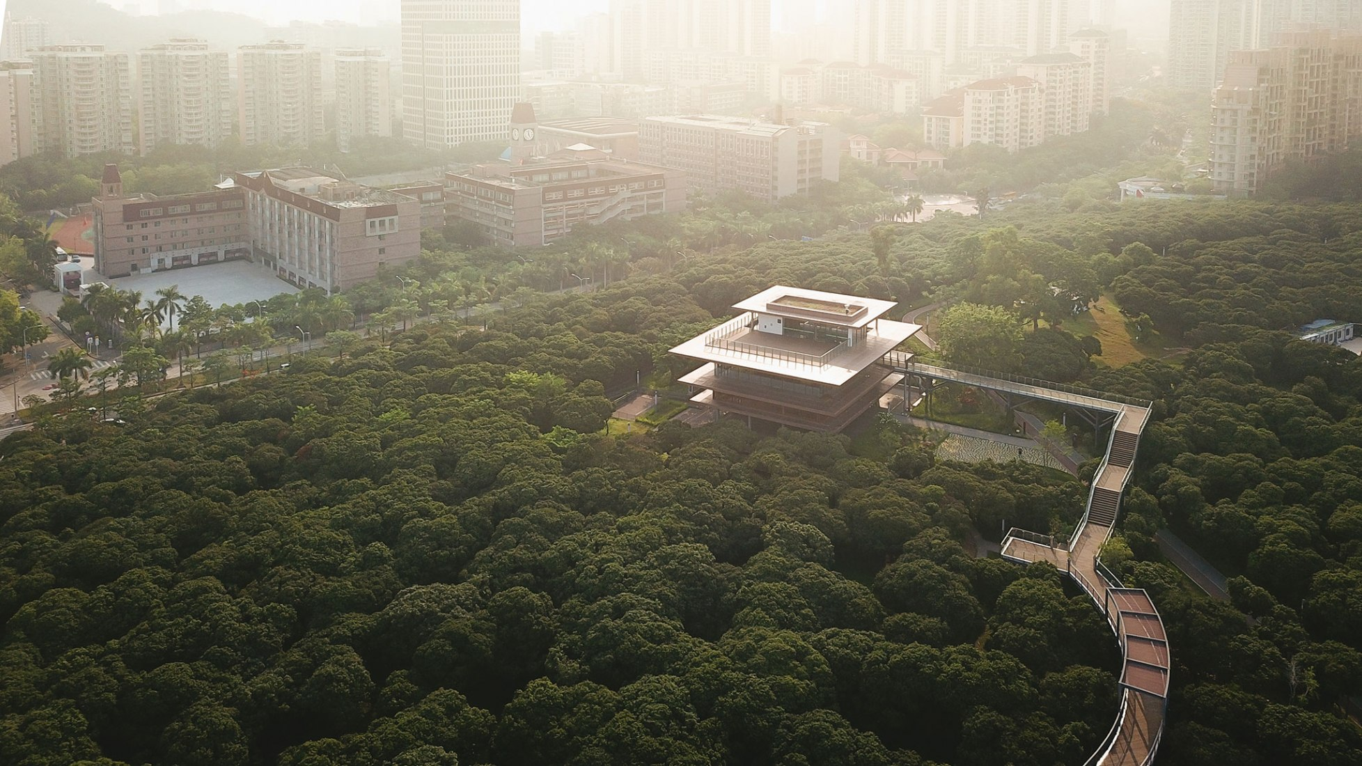 Overview. Xiangmi Park Science Library by MLA+. Photograph by Vlad Feoktistov