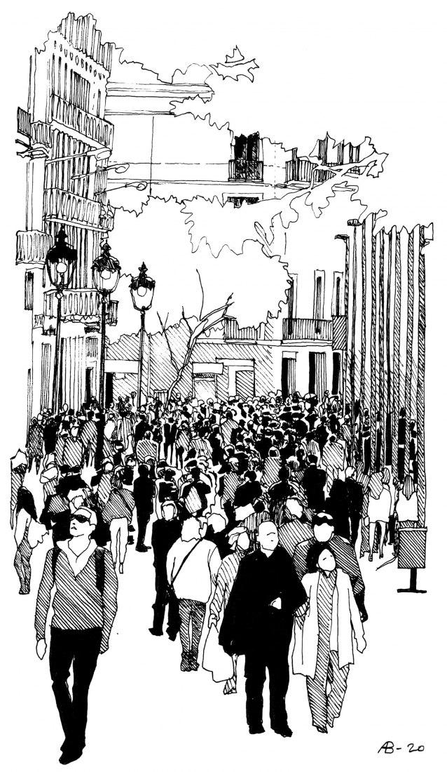 XV BEAU: España vacía, España llena. Estrategias de conciliación. Ilustración por Anna Bach