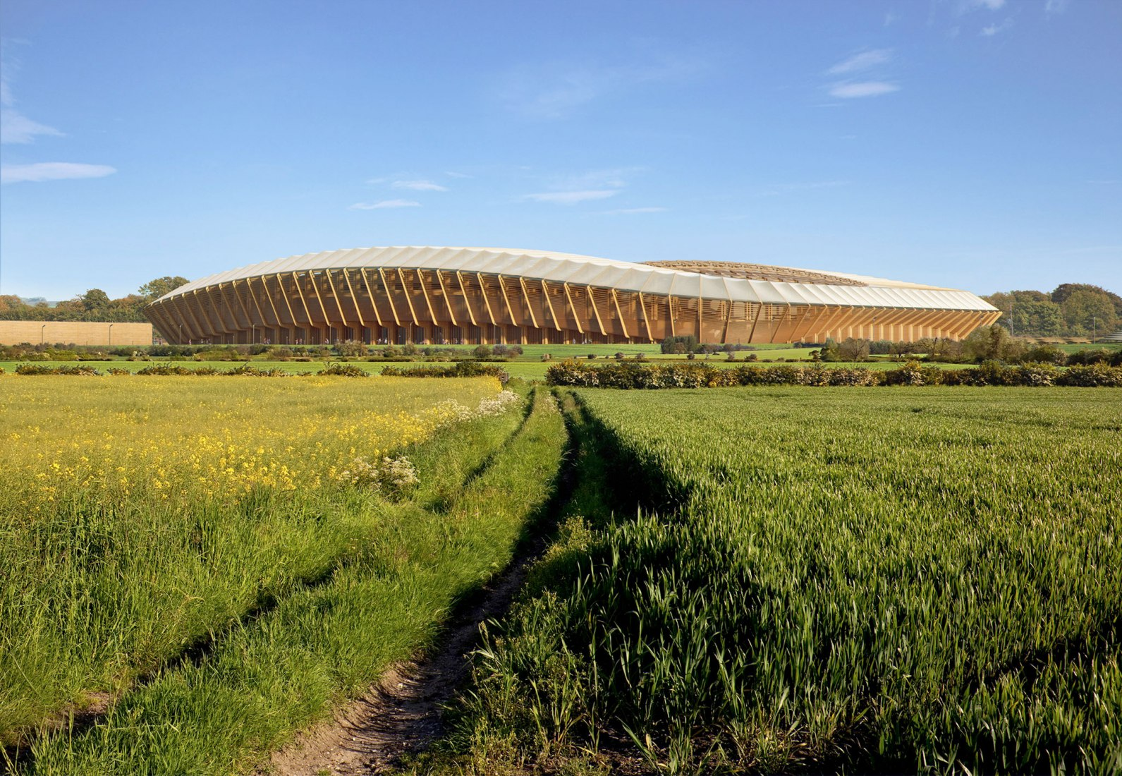 Ecopark Stadium by Zaha Hadid Architects. Rendering by MIR