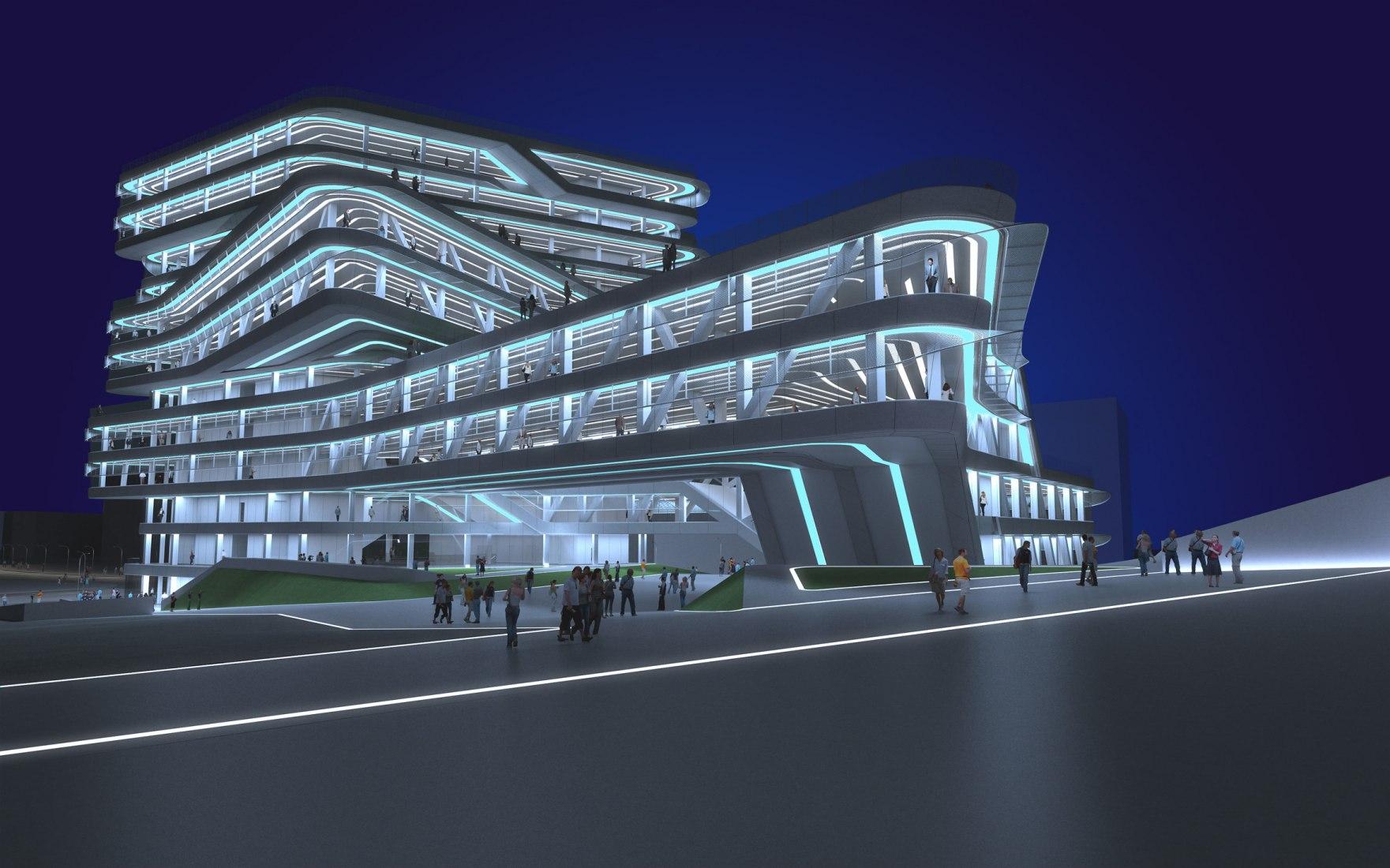 Project of the building under construction Espiral Tower, of Barcelona, of Zaha Hadid. ZAHA HADID.