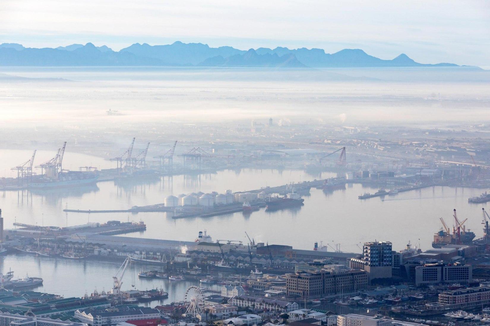 Cape Town overview. Zeitz MOCAA by Thomas Heatherwick. Photograph © Iwan Baan