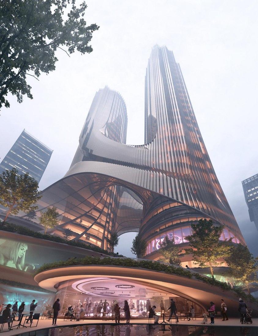 Tower C at Shenzhen Bay Super Headquarters Base by Zaha Hadid Architects