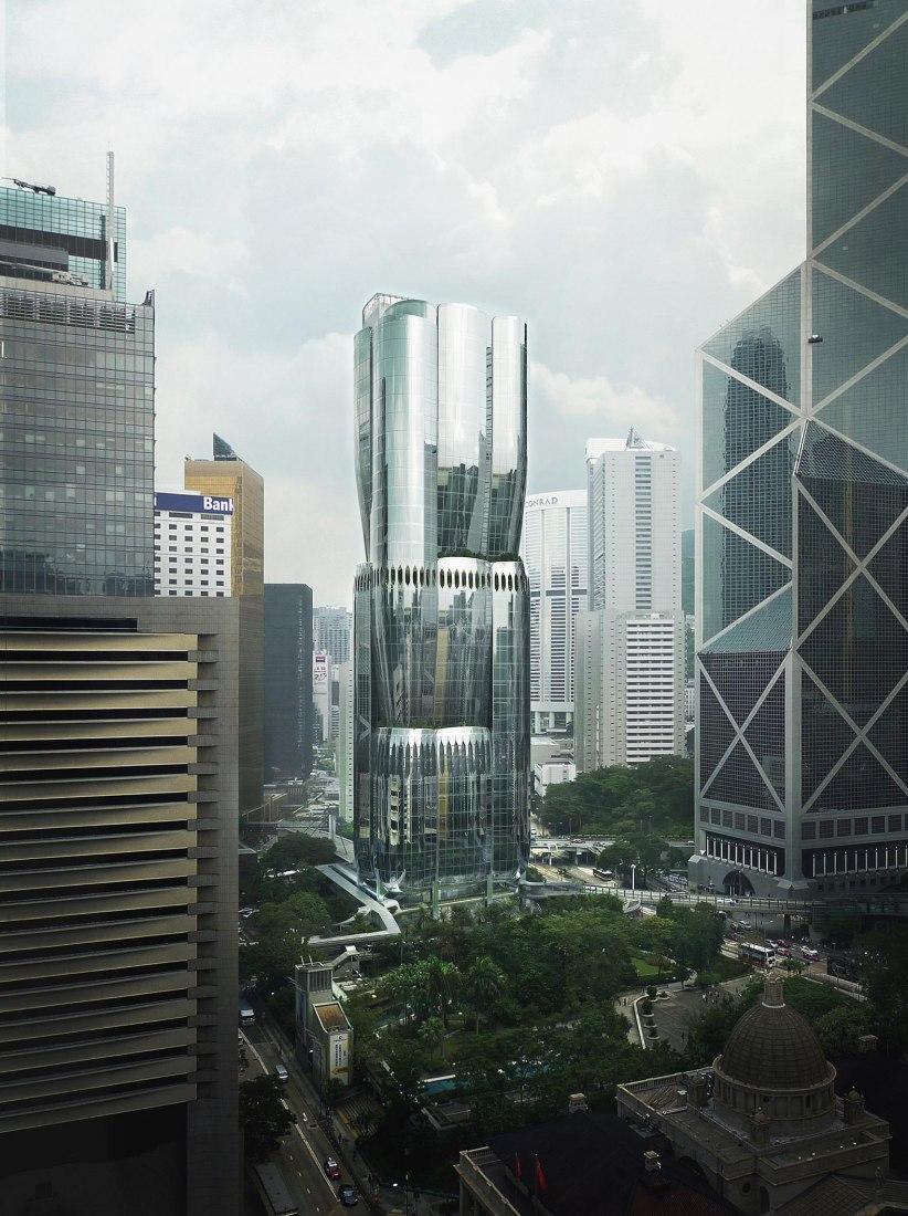 Rascacielos, 2 Murray Road por Zaha Hadid Architects. Visualización por MIR, cortesía de ZHA