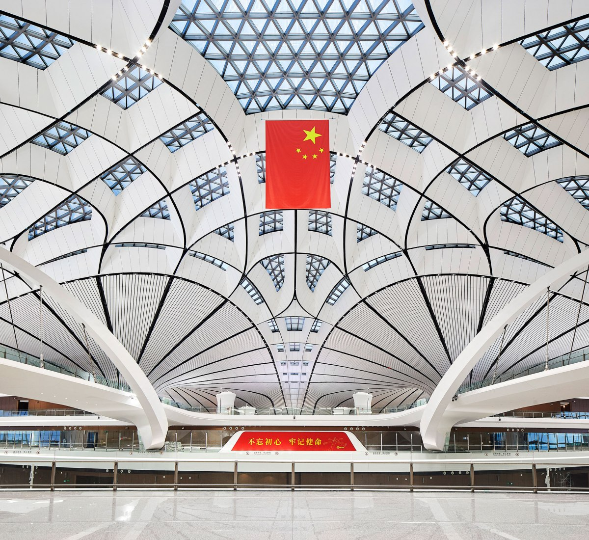 Beijing Daxing International Airport by Zaha Hadid Architects. Photograph by Hufton+Crow.