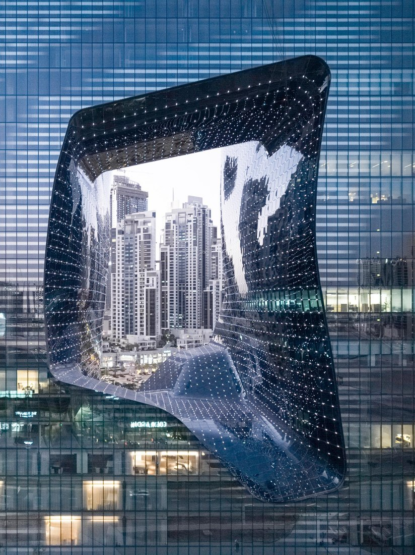 ME Dubai hotel at the Opus by Zaha Hadid Architects. Photograph by Laurian Ghinitoiu