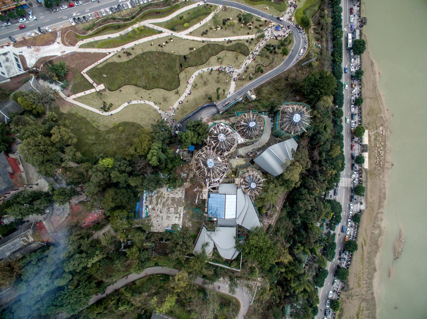 Construction phase. Zhang Daqian Museum, designed by Benedetta Tagliabue / EMBT. Image courtesy of EMBT.