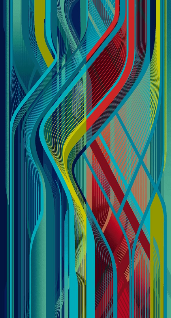 Rendering. RE/Form Striation  carpet collection by Zaha Hadid Design for Royal Thai