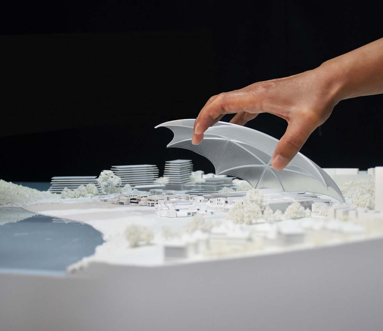 Model. Zhuhai Cultural Arts Center by MAD Architects. Courtesy of MAD Architects