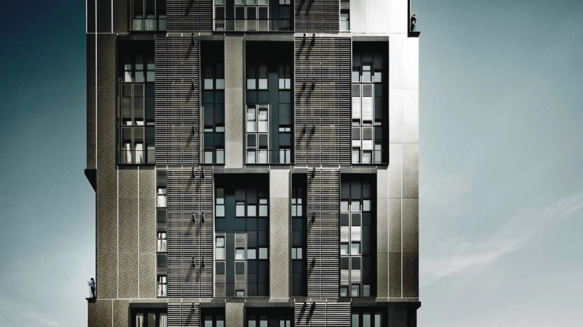orre de vivienda social de 75 unidades por Roldán + Berengué, arqts. Fotografía © Jordi Surroca