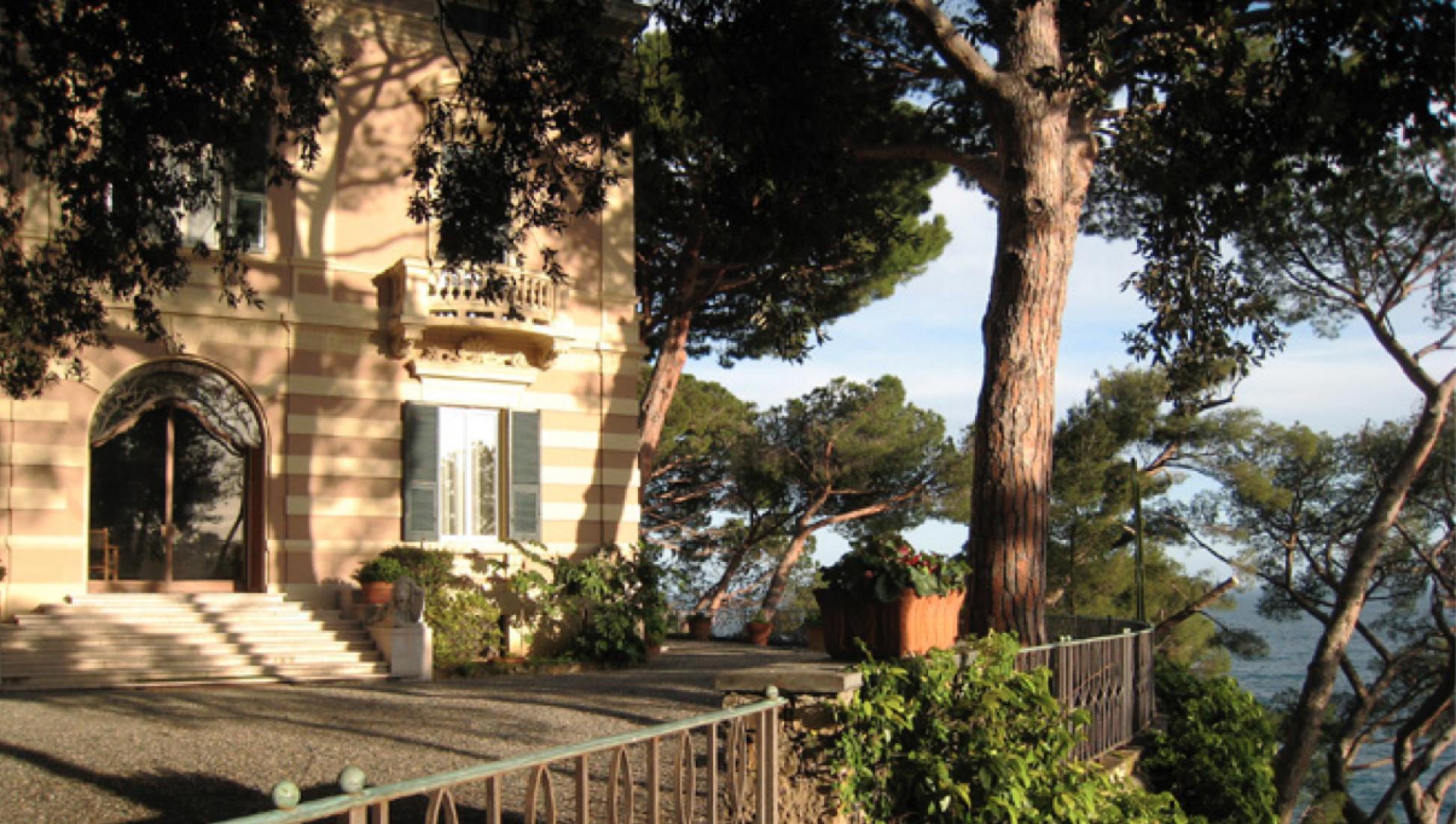 Villa dei Pini. Vista desde la torre. Cortesía de Bogliasco Foundation.