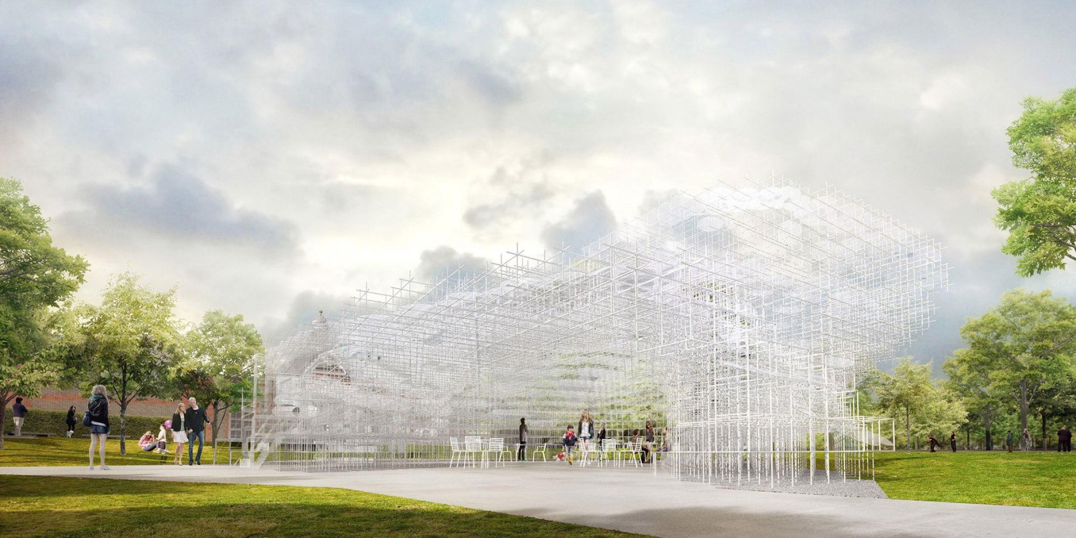 Serpentine Gallery Pavilion 2013 Designed by Sou Fujimoto Indicative CGI © Sou Fujimoto Architects.