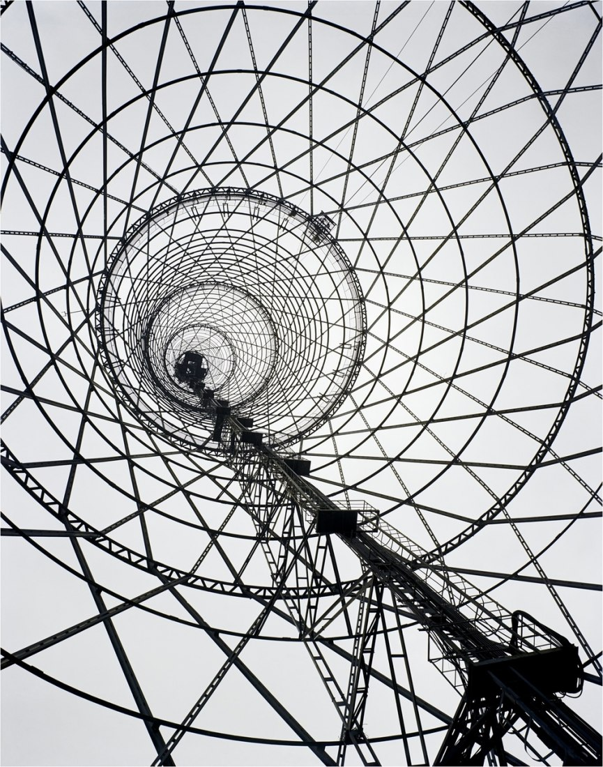 Shábolovka Broadcasting Tower, 1988. Photograph by Richard Pare, courtesy of Kicken Berlin. © Richard Pare