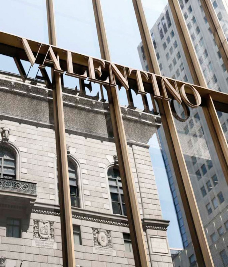 Façade detail. Valentino New York Flagship Store. By David Chipperfield. Photography © Santi Caleca.