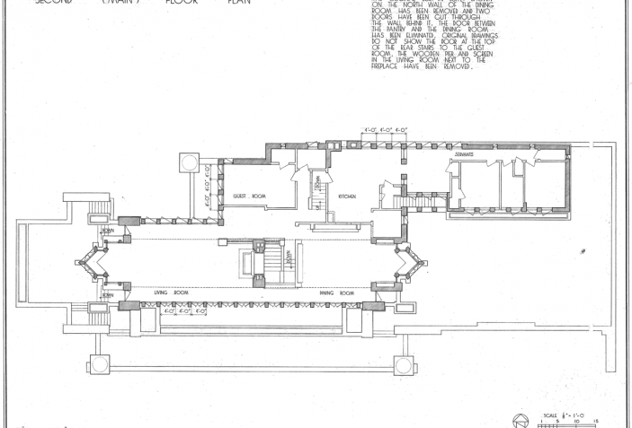 First Floor Plan The Best Example Of Prairie Houses Robie House