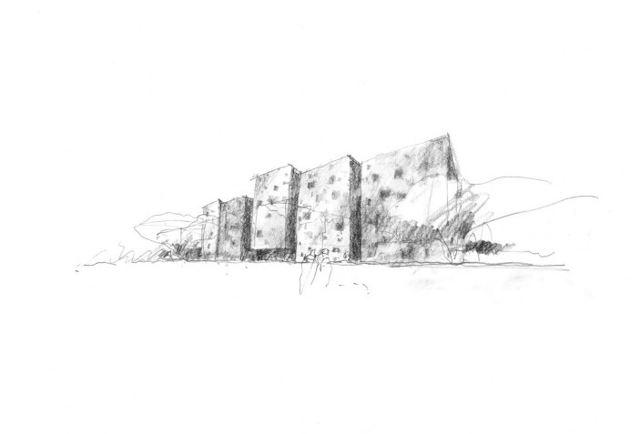 High and Low Density. Australian Embassy by Denton Corker