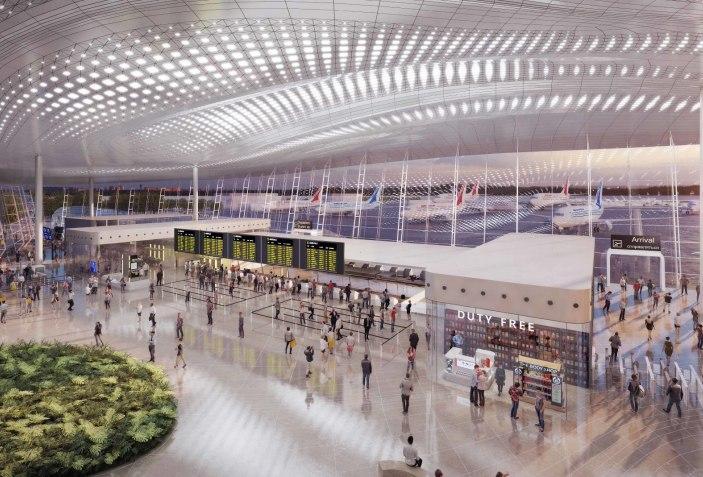 Visualización. Aeropuerto de Gelendzhik, Rusia por Studio Fuksas