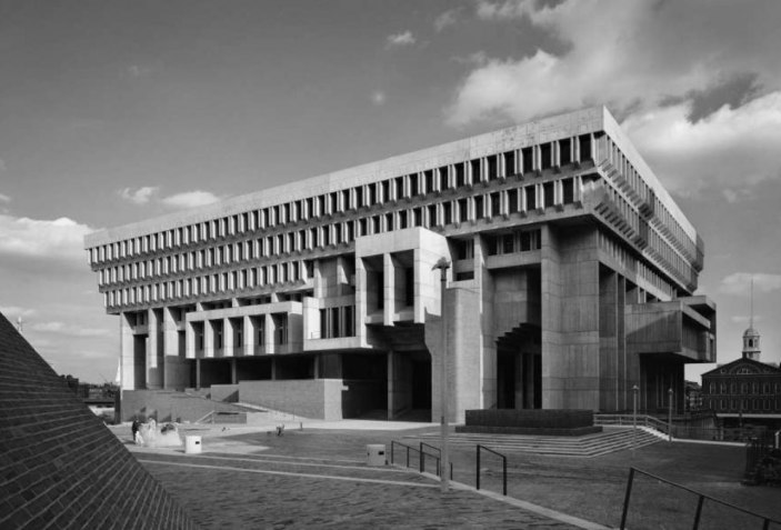 Boston City Hall by Kallmann, McKinnell and Knowles, 1969. Photgraph by Ezra Stoller/Esto