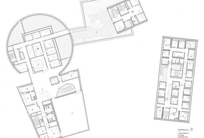 Depaul Lewis Center Floor Plan: Lewis Arts Complex By Steven Holl Architects And BNIM